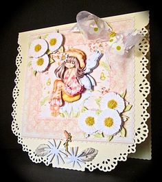BIRTHDAY WISHES from FAIRY DAISY 8x8 Mini Kit Decoupage on Craftsuprint designed by Janet Briggs - made by Cynthia Massey