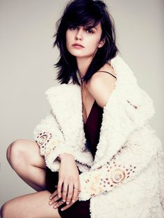 Free People Faux Fur Embellished Swing Coat at Free People Clothing Boutique