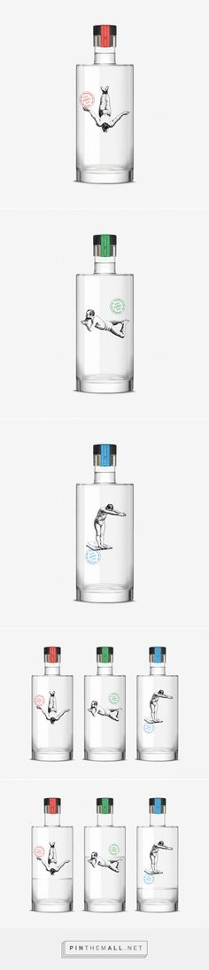 Check out the interaction between the swimmer and the gin as the bottles are emptied on #Gin Rawal by Dorian - http://www.packagingoftheworld.com/2015/01/gin-rawal.html