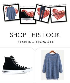 """""""Untitled #59"""" by titaniuuum ❤ liked on Polyvore featuring Converse and Frame Denim"""