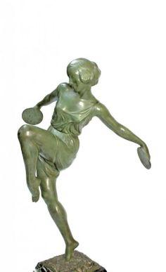 Fayral ( Pierre Le Faguays ) grande Danseuse Art Déco 1930 |...