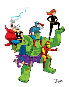 Avengers Assembled by Dean Trippe. So great!