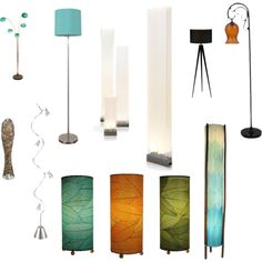 Quirky floor lamps by sadewish on Polyvore featuring polyvore, interior, interiors, interior design, home, home decor, interior decorating, Adesso, Pablo, J. Hunt, Universal Lighting and Decor and Room Essentials