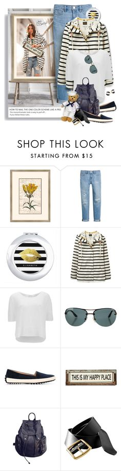 """""""Wardrobe Staple: White T-Shirt"""" by fashion-architect-style ❤ liked on Polyvore featuring Melissa Van Hise, White House Black Market, Joules, Vero Moda, Versace, Tod's, Poncho & Goldstein, LIST, Old Navy and Kate Spade"""