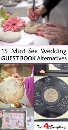 15 Must-See Wedding Guest Book Alternatives - #WeddingIdeas #WeddingGuestBook