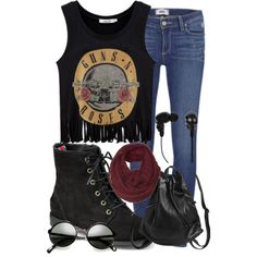 Fashionworld996 put together this rocker chic look and now it's our featured #PolyvoreOOTD! Show her some love here: http://polyv.re/1q9PKzN Share your outfit ideas on Instagram with #PolyvoreOOTD for a chance to be featured next Friday.