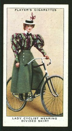 From New York Public Library Digital Collections. 1890s Fashion, Victorian Fashion, Vintage Fashion, Vintage Cycles, Mode Vintage, Vintage Golf, Cycling Suit, Cycling Clothes, Cycling Tips