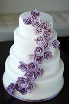 Pretty cake!  Simple, with colorful roses
