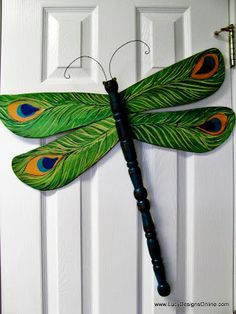 table leg and peacock wing dragonfly Lucy Designs