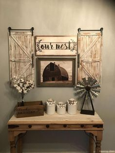 Awesome Rustic Farmhouse Style Living Room Design Ideas - Home Decor Ideas Diy Home Decor Rustic, Country Farmhouse Decor, Farmhouse Kitchen Decor, Farmhouse Style, Farmhouse Design, Farmhouse Ideas, Rustic Entryway, Rustic Style, Modern Farmhouse