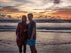 Sonnenuntergang am Kuta Beach auf Bali