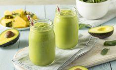 Healthy homemade avocado smoothie with spinach pineapple and yogurt stock photo - 76926250 Avocado Smoothie, Healthy Green Smoothies, Fruit Smoothies, Smoothie Recipes, Turmeric Smoothie, Breakfast Smoothies, Avocado Health Benefits, Milk Recipes, Chicken Recipes