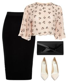 """""""Untitled #1104"""" by mrseclipse ❤ liked on Polyvore featuring River Island, Francesco Russo and L.K.Bennett"""