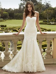 Ikela from Blue By Enzoani is a lace fishtail gown with a sweetheart neckline