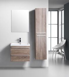Foundry Select Bolivia Wall-Mounted Single Bathroom Vanity with Mirror Bathroom Flooring, Bathroom Furniture, Living Room Furniture, Wooden Furniture, Antique Furniture, Furniture Logo, Outdoor Furniture, Single Sink Bathroom Vanity, Small Bathroom