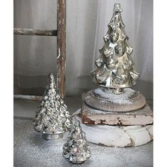 Creative Co-op Nubby Mercury Glass Christmas Tree from Elizabeth's Embellishments