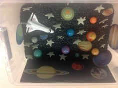 Outer space sensory box!