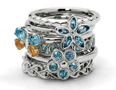 These sterling silver stackable rings are designed to fit together comfortably and feel great when worn together. Description from pyramid.ws. I searched for this on bing.com/images