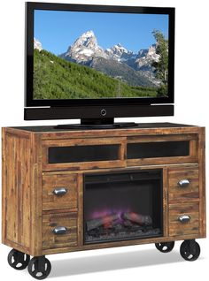 Shortline Fireplace Tv Stand Value City Furniture For The Home
