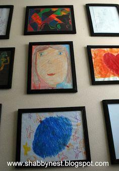 create a kids art gallery in my hallway