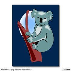 Koala bear 5 postcard