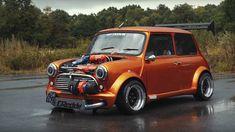 Mini od 360 KS (powered by Honda) Mini Cooper Classic, Mini Cooper S, Classic Mini, Go Kart, Dragster Car, Mini Morris, Honda, Car Mods, Classic Motors