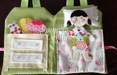 The SpunCandy Doll House - Quiet Book - Custom Made To Your Liking. $44.00, via Etsy.