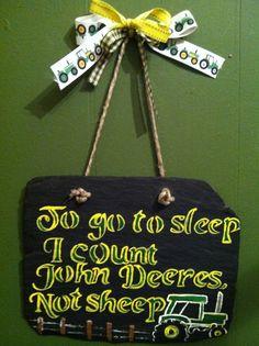 John Deere Child Slate by ItsJustSlate on Etsy, $30.00