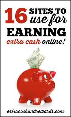 Heres a list of 16 of the best sites for earning extra cash online. Lots of varied options here that Ive personally tested including superior survey panels, smartphone apps that pay, rewards sites like Swagbucks, and more. Make Money Fast, Make Money Blogging, Money Tips, Make Money From Home, Money Saving Tips, Make Money Online, Earn Extra Cash, Extra Money, Surveys For Cash