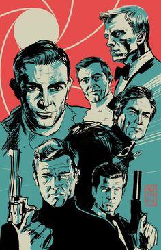 Aurelio Lorenzo - au_lorenzo - @Sketch_Dailies I'm such a huuuge #jamesbond #007 fan... I couldn't decide which one so... http://t.co/djjUOq5FLx