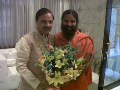 #baba #ramdev with union minister Raj prakash