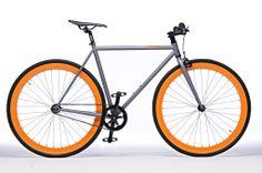Pure Fix Cycles Fixed Gear Single Speed Urban Fixie Bike Mtb, Holiday Gifts For Men, Cheap Bikes, Hardtail Mountain Bike, Mountain Biking, Orange Wheels, Fixed Gear Bike, Speed Bike, Bicycle Accessories