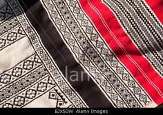 India, Tamil Nadu, Nilgiri Hills, Udhagamandalam (Ooty), traditionally made, hand embroidered Toda tribal patterned cloth
