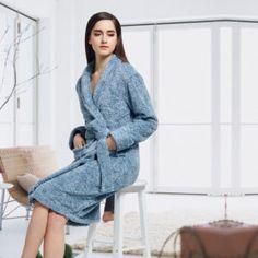 € 50,90 Peignoir hiver femme Bleu horizon Collection, Sweaters, Dresses, Fashion, Pajamas, Fall Winter, Womens Fashion, Blue, Vestidos