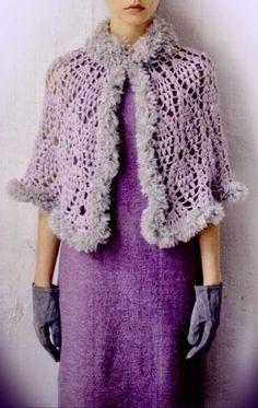 Crochet Shawls: Crochet Pattern Of Lace Cape - Gorgeous