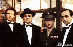 Titles: The Godfather Names: Marlon Brando, Al Pacino, James Caan, John Cazale… Marlon Brando, Corleone Family, Don Corleone, Robert Duvall, Andy Garcia, Diane Keaton, The Godfather, Godfather Series, Mario