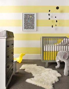 Yellow white striped nursery