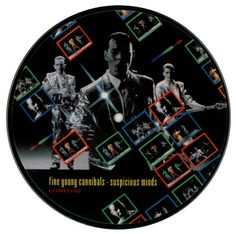 """For Sale - Fine Young Cannibals Suspicious Minds UK 7"""" vinyl picture disc 7 inch picture disc single - See this and 250,000 other rare & vintage vinyl records, singles, LPs & CDs at http://eil.com"""