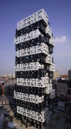 Building Unique Black and White Building Construction - #architecture - ☮k☮ - #modern