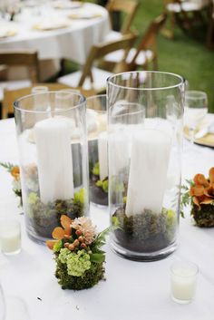 like the terrarium look of the candle vases