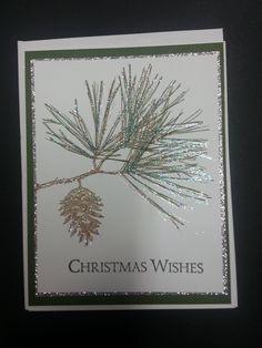 Stamp Set:  Stampin up Ornamental Pine, Holiday Catalog 2014