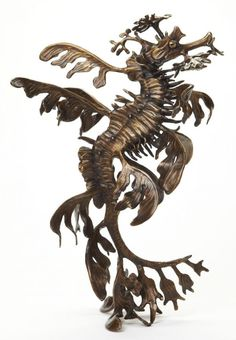 Bronze Australian and New Zealand Wild Life sculpture by artist Kirk McGuire titled: 'Leafy (bronze Sea Creature/Dragon Tabletop statue/statuettes/figurine)'
