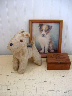 Steiff Vintage Dog (make little vignettes with your dog stuff!)