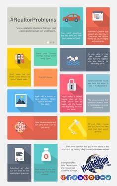 14 Problems Only Realtors Will Understand #Infographic http://www.blog.househuntnetwork.com/realtor-problems/