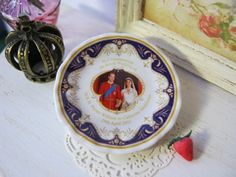 Westminster Wedding Plate for Dollhouse by alavenderdilly on Etsy, $4.00