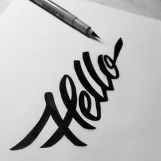 #hello #typography #lettering i like the way they connect through the top
