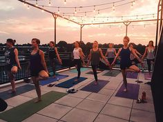 Third annual Rooftop Yoga Bird experience! Ticket link in profile. Join us for one beautiful hour of self-care bliss on the @supplymanheim terrace! Yoga Bird movement awareness strengthening lengthening balancing and learning. Self-care is how you take your power back. Lalah Delia #yogabirdco #ilovemanheim #selfcare