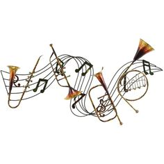 Benzara Metal Musical Inst Decor A Musical Wall Decor (185 ILS) ❤ liked on Polyvore featuring home, home decor, wall art, music, yellow, metal wall art, music home decor, music sheet, music themed wall art and yellow home decor