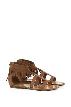 Slip into the boho shoe: summery #Esprit leather flats / sandals with fringes