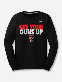 ca46e46fa7c8 Nike Texas Tech Get Your Guns Up Long Sleeve. Nike Texas Tech Red Raiders  ...